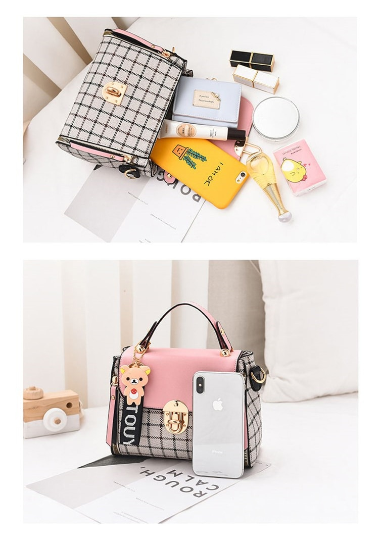 Ladies Shoulder Bags New Cute Type PU High Quality  Hot Sale Girls Diagonal bag Color Matching Casual Fashion Small Square Bags