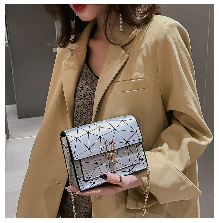 Women Shoulder Bags 2020 Summer New Korean Version of The Messenger Bag Handbag Chain Wild Crack Printing Wild Shoulder Bag