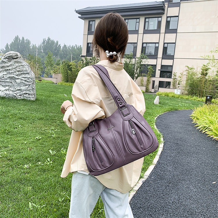women's bag large capacity shoulder bags high quality PU leather shoulder bags ladies wild bags sac a main femme Hot sale large