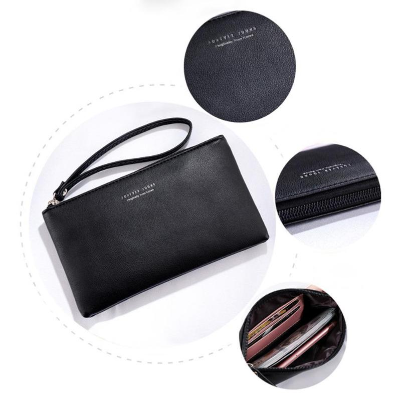 Women Clutch Bag Simple Black PU Leather Handbag Envelope Bag Small Clutches for Women Phone Money Bag Female Handbag sac a main