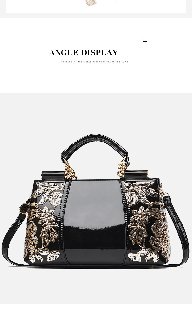 2020 new Embroidery Women Bag Leather Purses and Handbags Luxury Shoulder Bags crossbody bags Female Bag for Women handbag