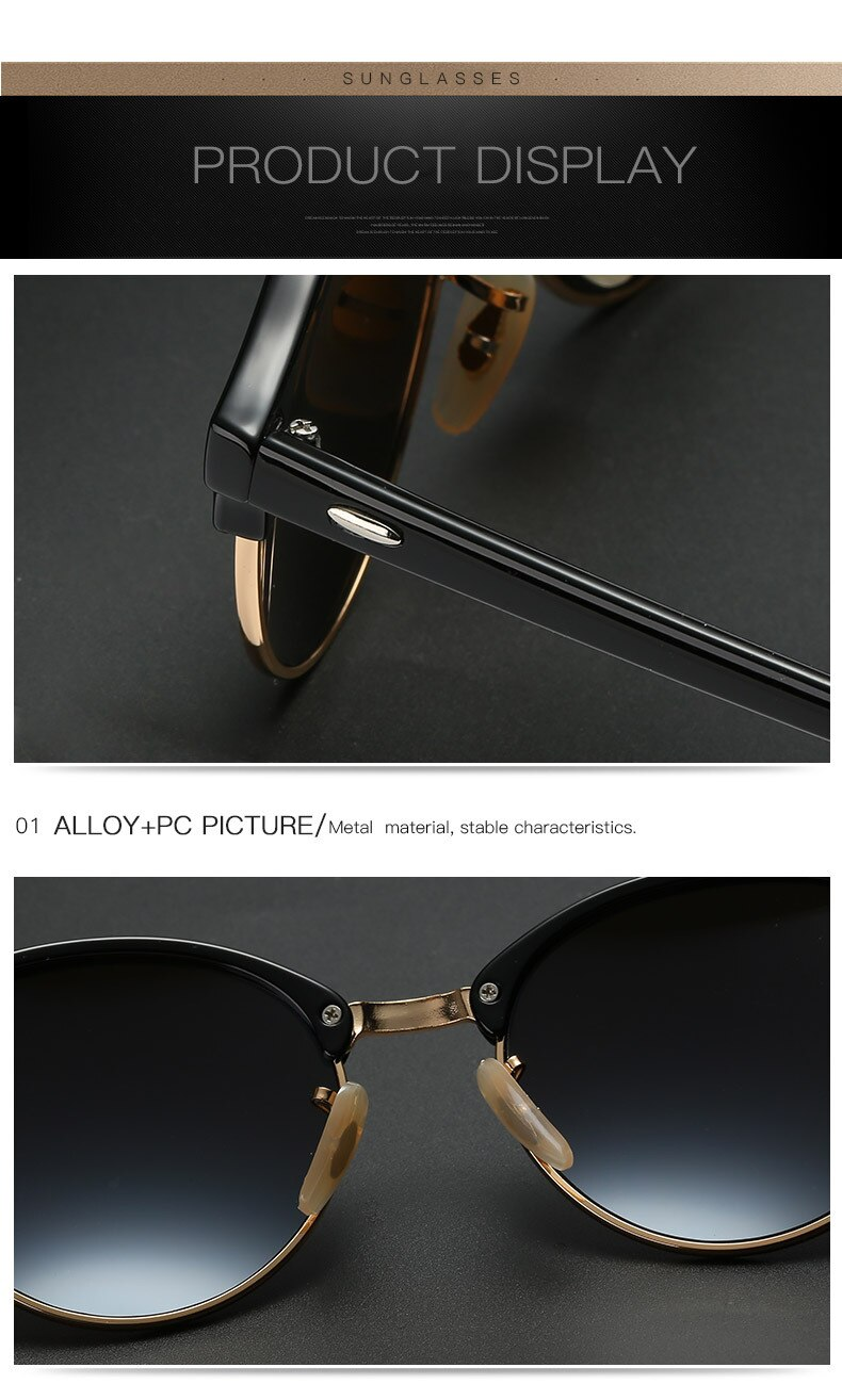 DCM Hot Sunglasses Women Popular Brand Designer Retro Men Summer Style Sun Glasses