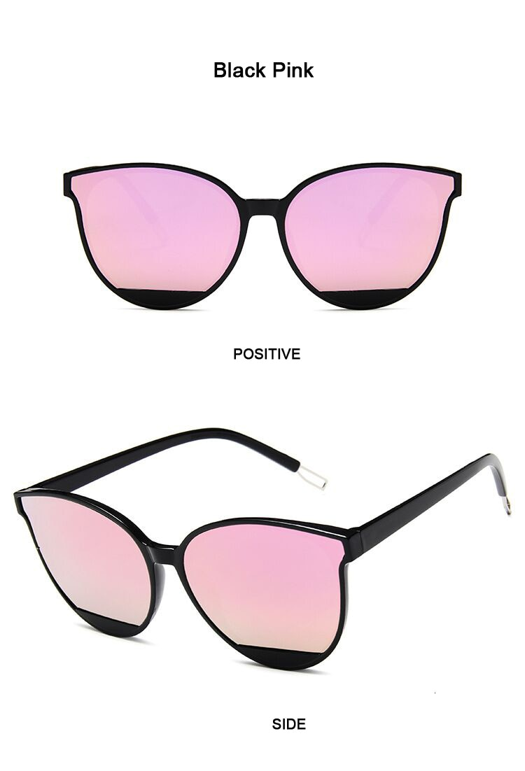 New Classic Oval Red Women Sunglasses Female Vintage Luxury Plastic Brand Designer Cat Eye Sun Glasses UV400 Fashion