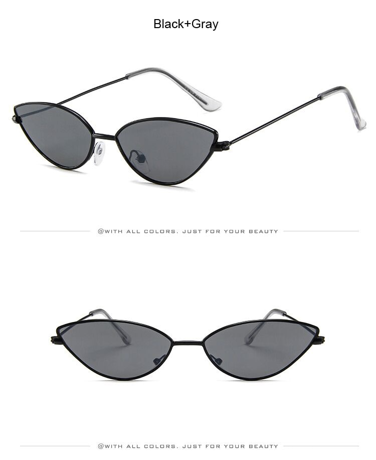 Cute Sexy Cat Eye Sunglasses Women Retro Small Black Red Pink Cateye Sun Glasses Female Vintage Shades For Women