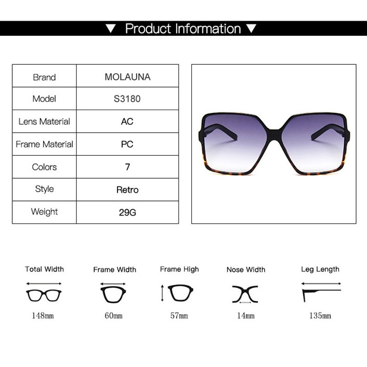 2020 Luxury Oversize Square Sunglasses Women Vintage Brand Big Frame Women Sun Glasses Fashion Gradient Female Glasses Oculos